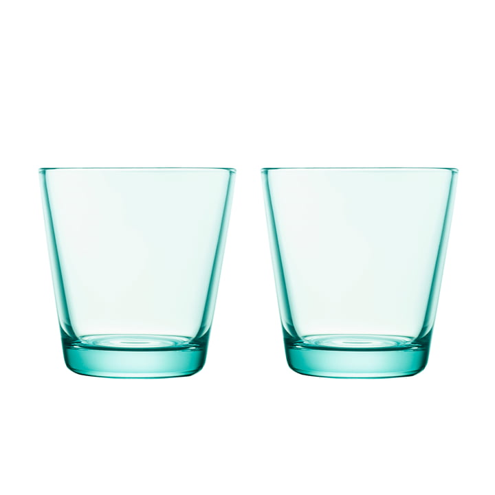 Kartio Drinking glass 21 cl (set of 2) from Iittala in water green