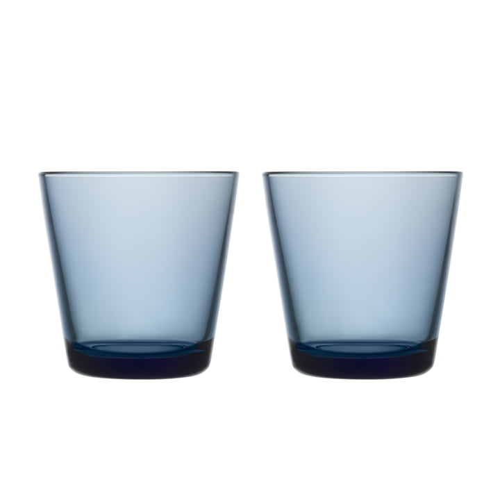 Kartio Drinking glass 21 cl (set of 2) from Iittala in rain blue