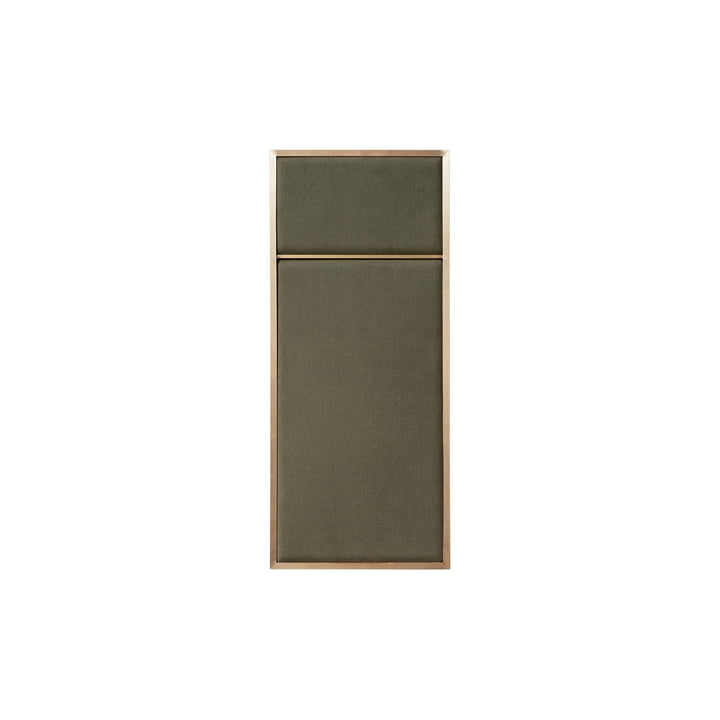 Nouveau Pinboard S, 62.3 x 27.6 cm, brass / oyster grey from Please wait to be seated