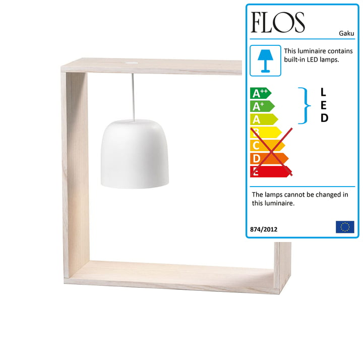 Gaku Wire Battery Table Light (LED) from Flos in white
