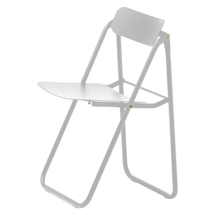 Con.fort folding chair in white / white by Opinion Ciatti