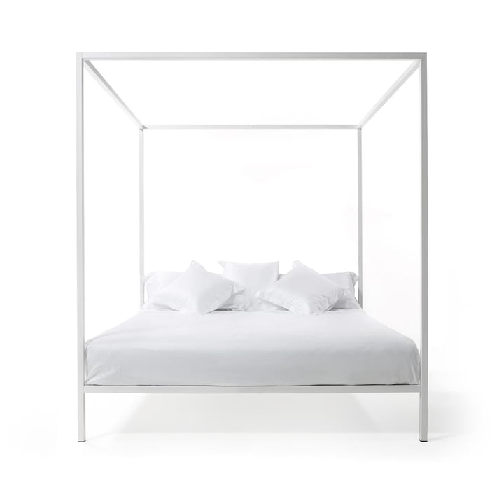 ILletto four poster bed without headboard, 160 x 200 cm in white by Opinion Ciatti