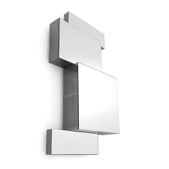 Ba.Belle mirror cabinet, H 35 cm in stainless steel by Opinion Ciatti