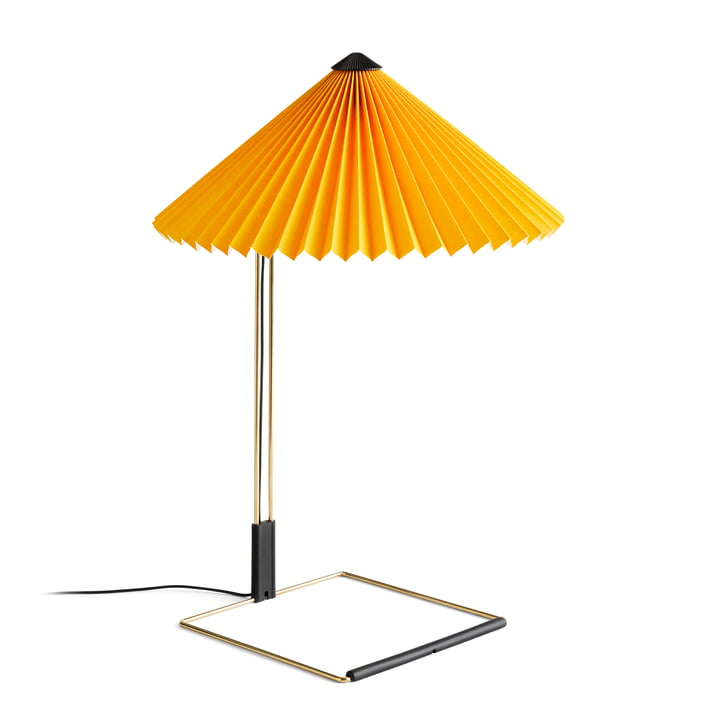 Matin LED table lamp L, yellow by Hay