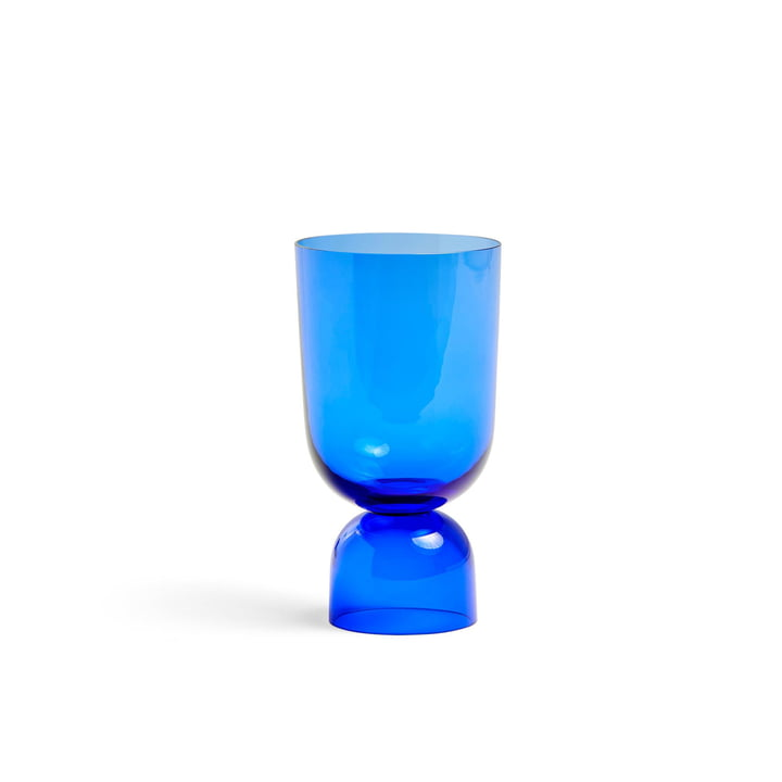 Bottoms Up Vase S, Ø 11,5 x H 21,5 cm in electric blue by Hay