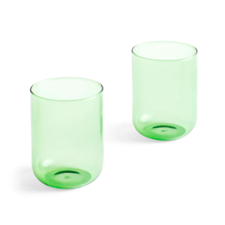 Tint drinking glass 300 ml in green (set of 2) by Hay