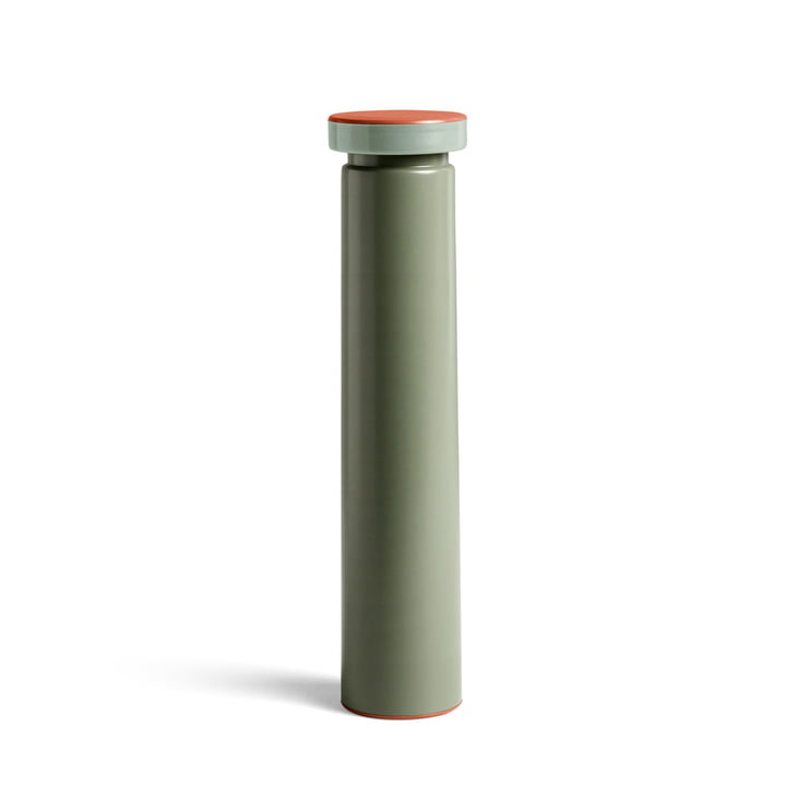 Sowden salt and pepper mill L, Ø 6 x H 26 cm in sage green by Hay
