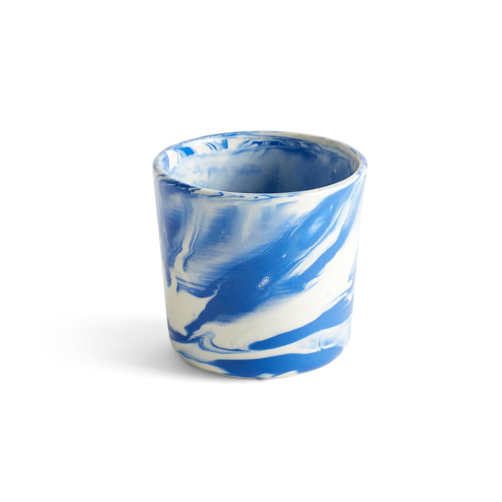 Marbled Cup, Ø 8 x H 7,5 cm, blue by Hay
