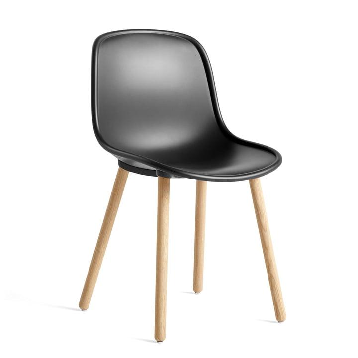 New 12 Chair, oak matt lacquered / soft black by Hay