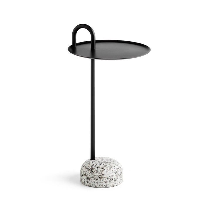 Bowler side table, Ø 36 cm / H 70,5 cm in black by Hay