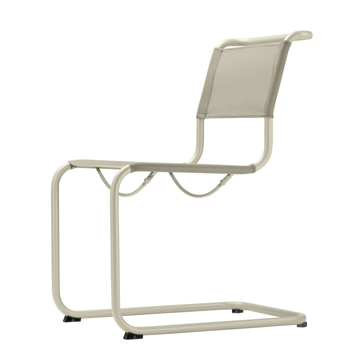 S 33 N All Seasons chair by Thonet with warmgrey frame (TS 3005) / natural fabric
