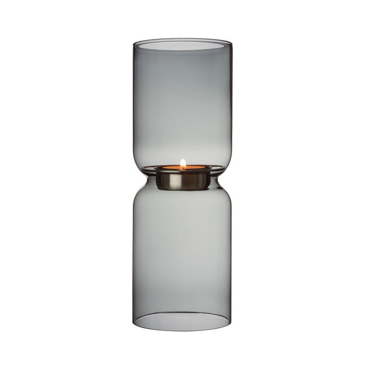 Lantern candlestick 250 mm from Iittala in dark grey