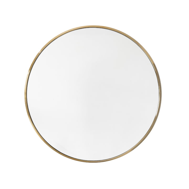 Sillon wall mirror SH5, Ø 66 cm in brass by & tradition