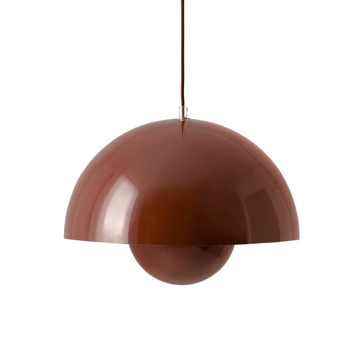 FlowerPot pendant lamp VP7 in red-brown by & tradition