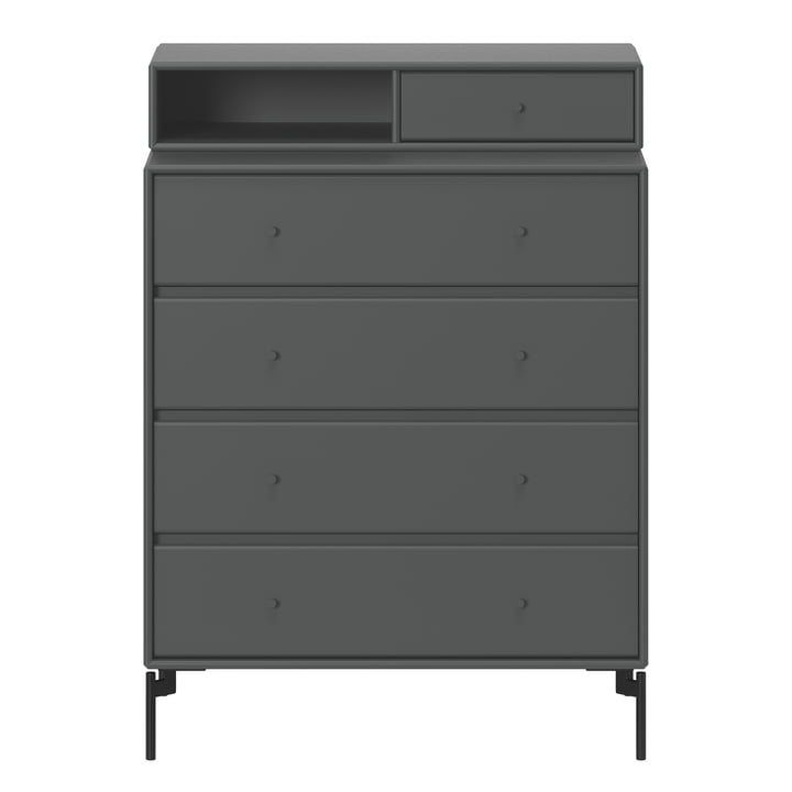 Keep chest of drawers with legs by Montana in anthracite