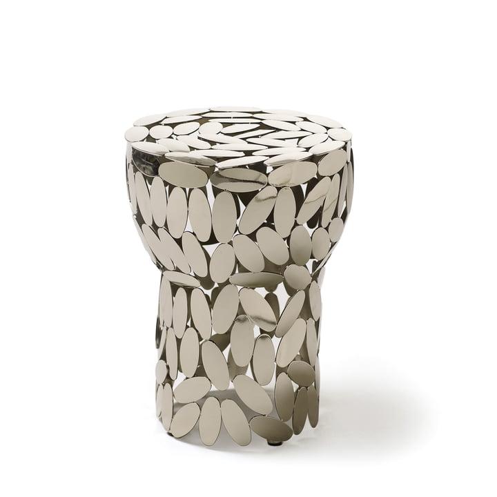 Foliae stool / side table by Opinion Ciatti in Nickel