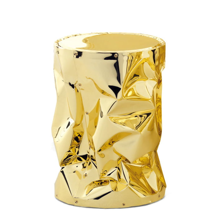 Tab.u Collection Side table / stool H 43 Ø 30 cm by Opinion Ciatti in Gold