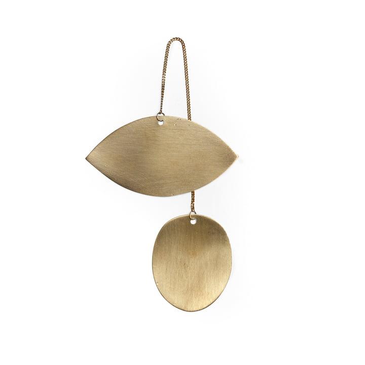 Twin ornament by ferm Living in brass / Eye