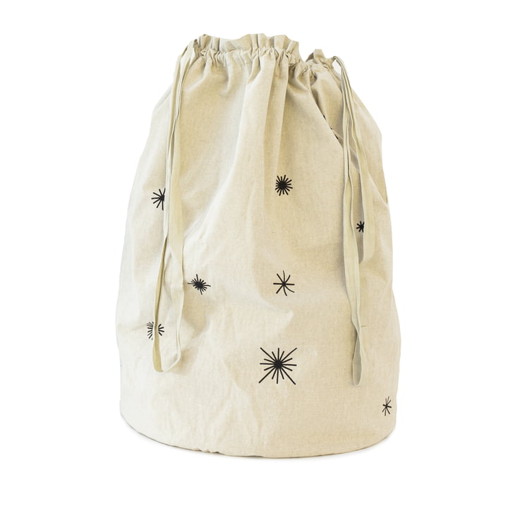 Star Christmas bag Ø 24 x H 50 cm from ferm Living in sand