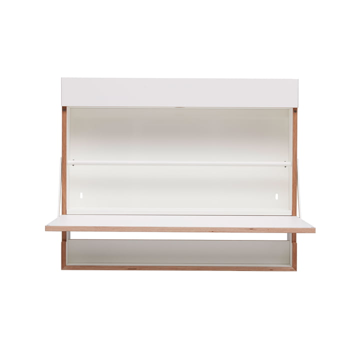 Workout wall secretary from Müller furniture workshops in CPL white