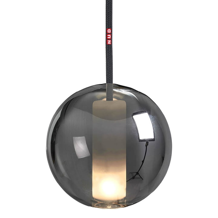 Moon Pendant luminaire 150 from NUD Collection in space / asphalt (TT-061)