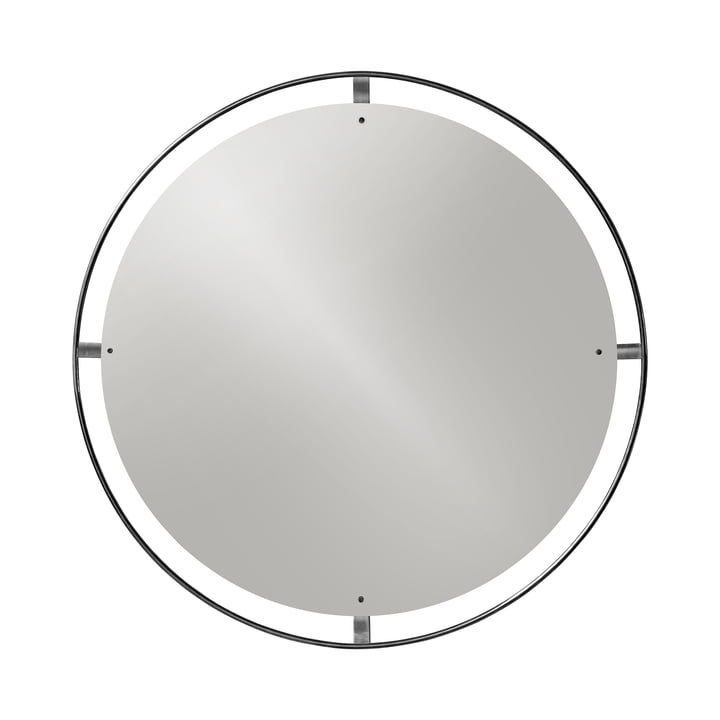 Nimbus mirror Ø 110 cm brass burnished by Menu
