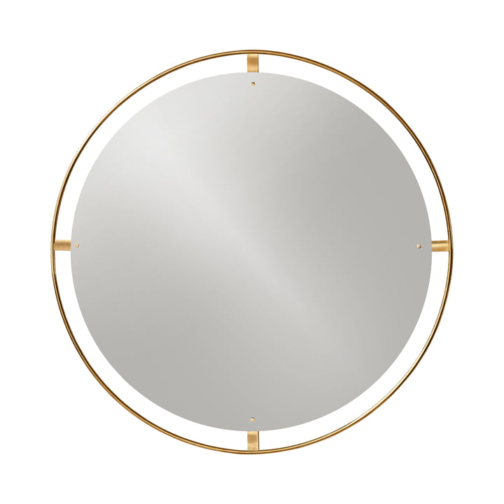 Nimbus mirror Ø 110 cm, brass polished by Menu
