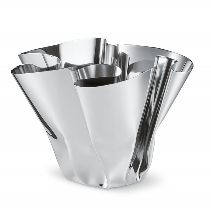 Margeaux Vase H 20 cm, stainless steel by Philippi