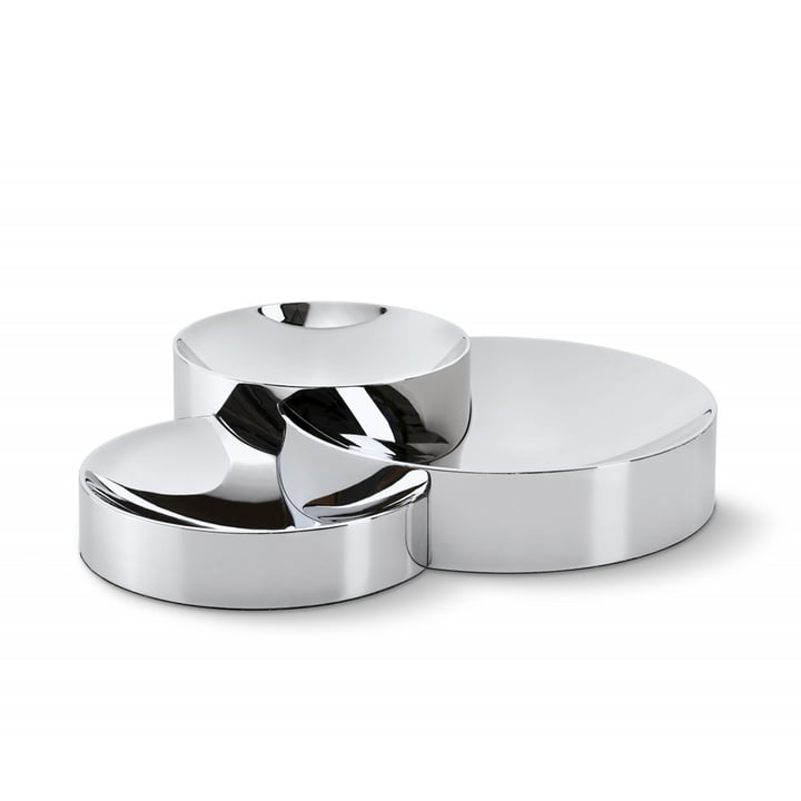 Scala bowls (set of 3), chrome by Philippi
