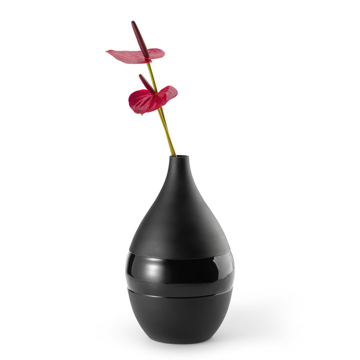 Negretto Vase L, black by Philippi