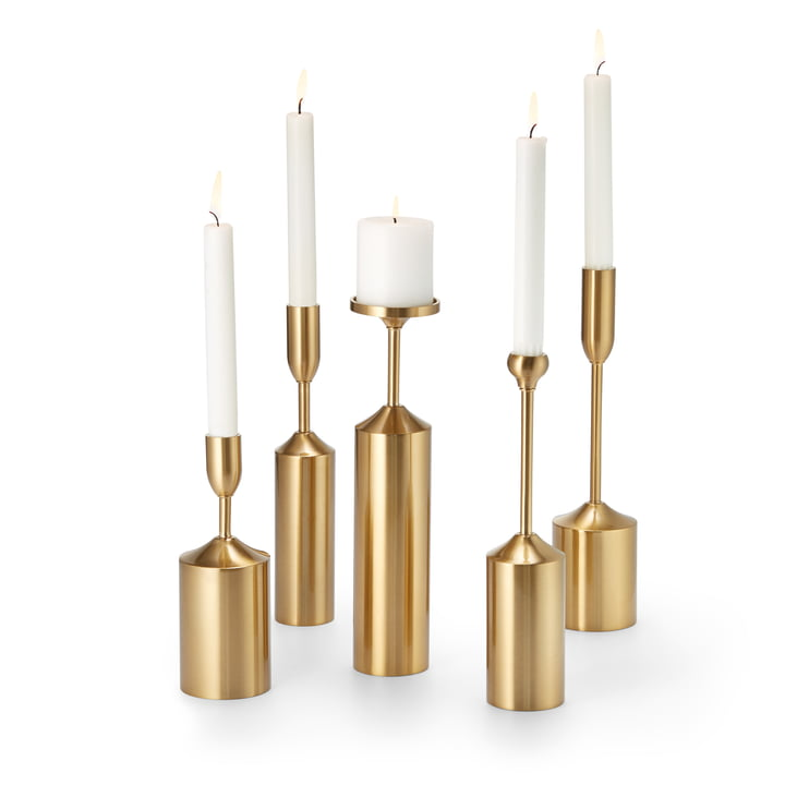 Opulenza chandelier set (5 pcs.), brass by Philippi