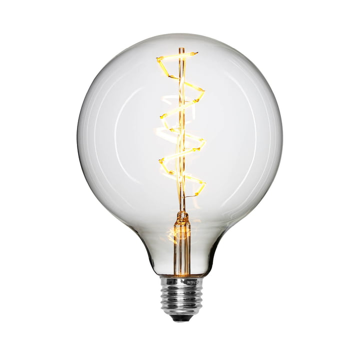 LED-Spiral bulb Ø 125 mm, E27 / 1,5 W, clear from NUD Collection