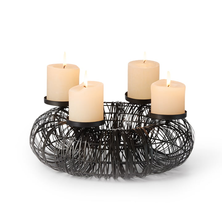 Christo Advent wreath in black by Philippi
