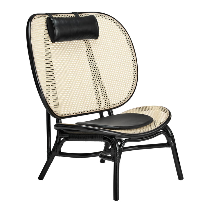 Nomad Lounge Chair by Norr11 in nature / black
