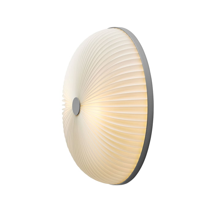 Lamella wall and ceiling lamp Ø 35 cm from Le Klint in silver / white