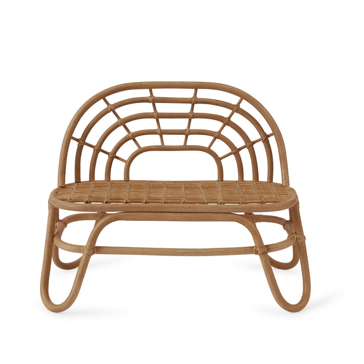 Children's bench Rainbow from OYOY in Rattan