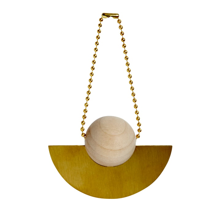 Christmas decoration pendant Lucia, brass / nature by OYOY