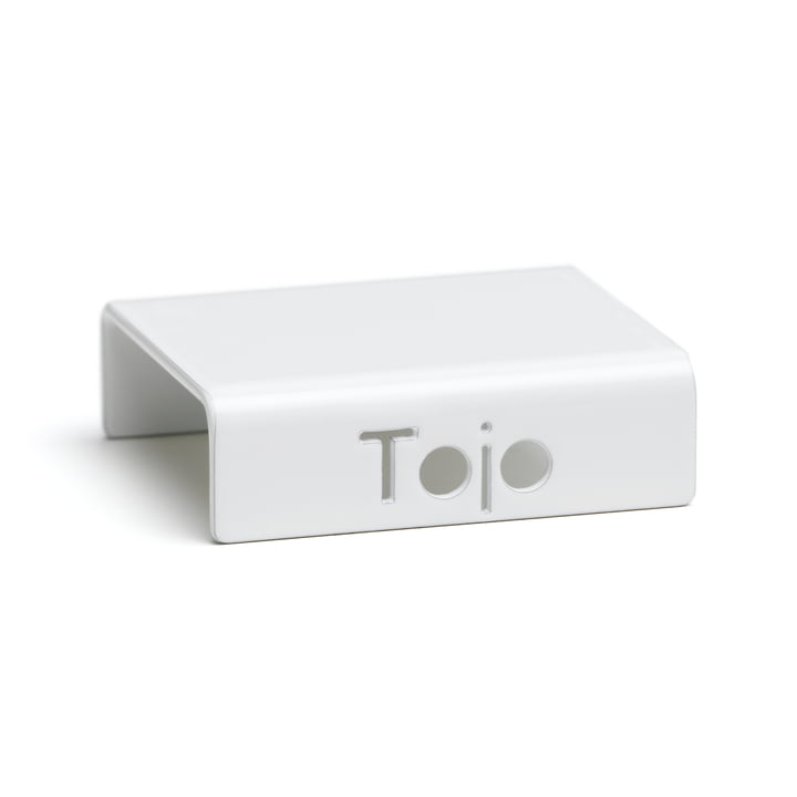 Clip for high stacker shelving system from Tojo in white