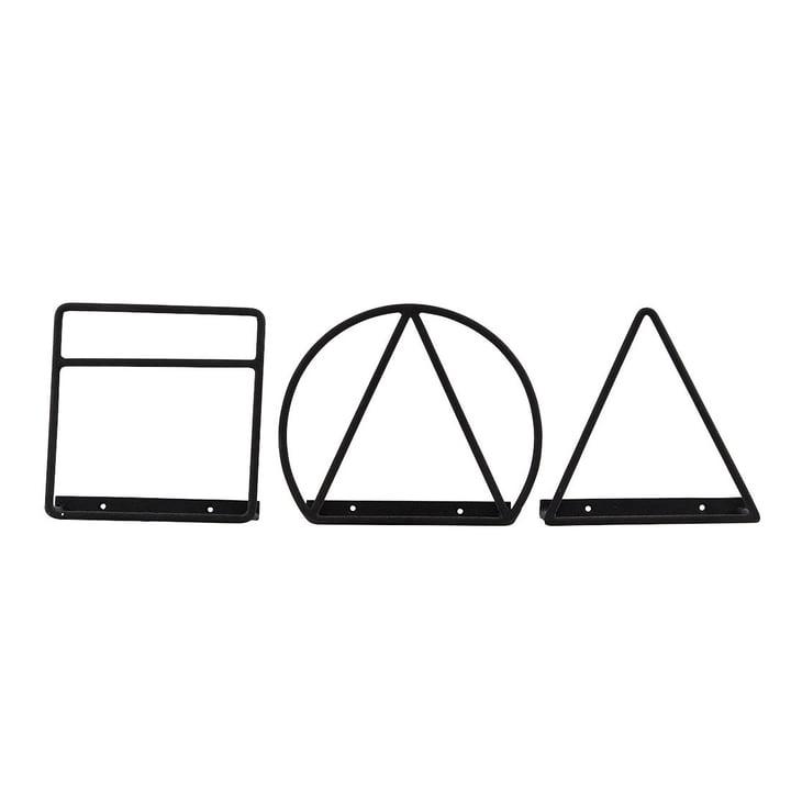 House Doctor - Loge magazine holder, black (set of 3)