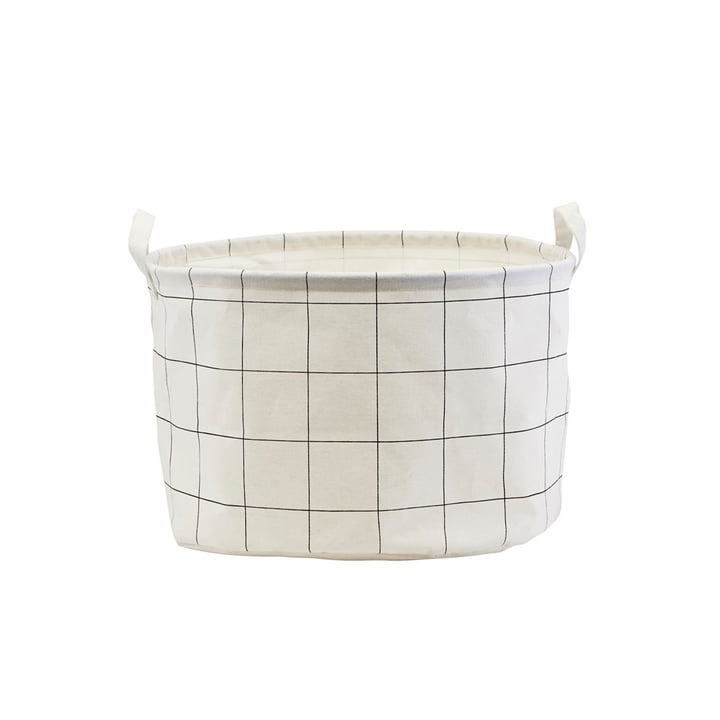 Storage basket Squares Ø 40 x H 25 cm from House Doctor in black / white