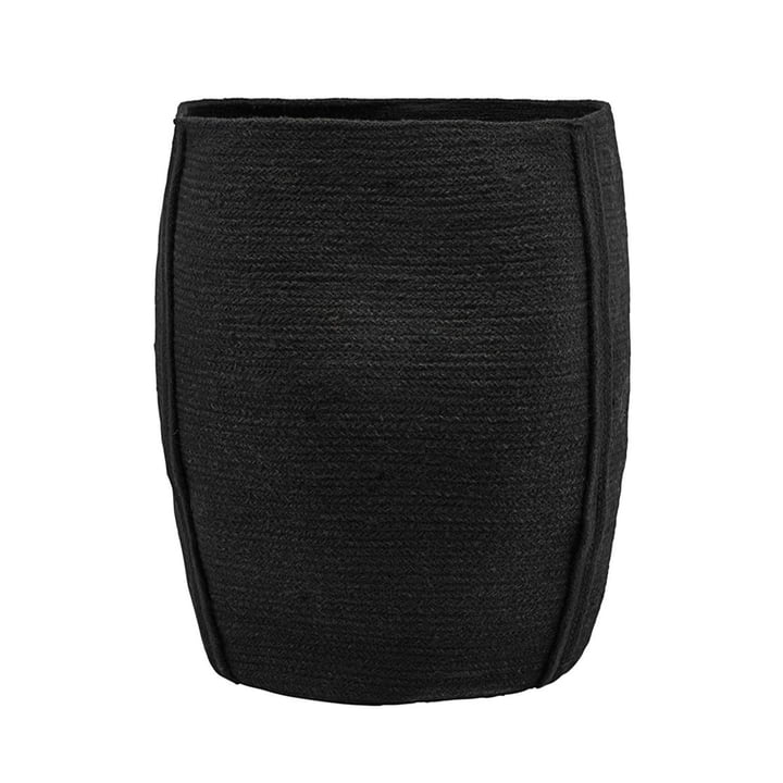 Drum Storage Basket Ø 40 x H 45 cm by House Doctor in black