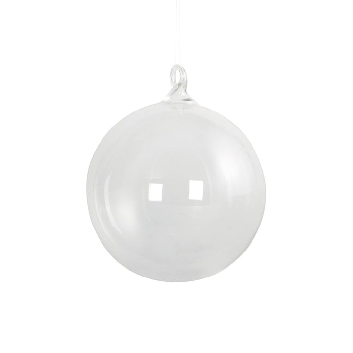 Glass Christmas tree ball Ø 12 cm by House Doctor in clear