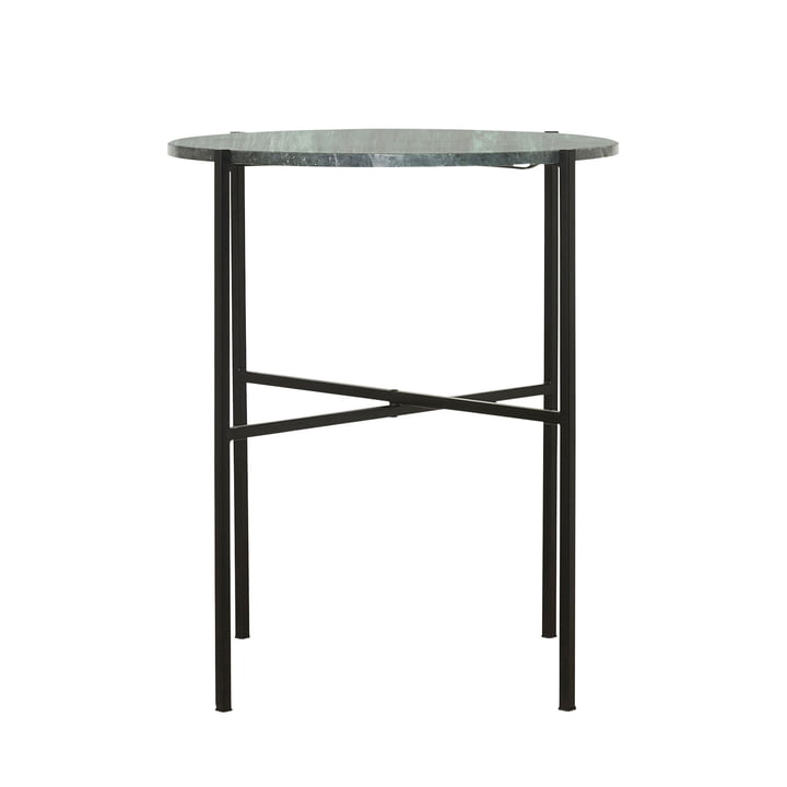 The Green side table Ø 45 x H 55 cm by House Doctor in marble green