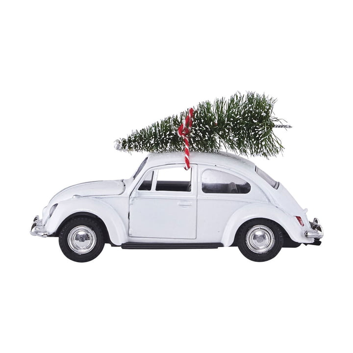Xmas Cars Deco Cars 12,5 cm by House Doctor in white