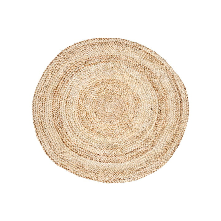 Hemp carpet structure Ø 100 cm by House Doctor in nature