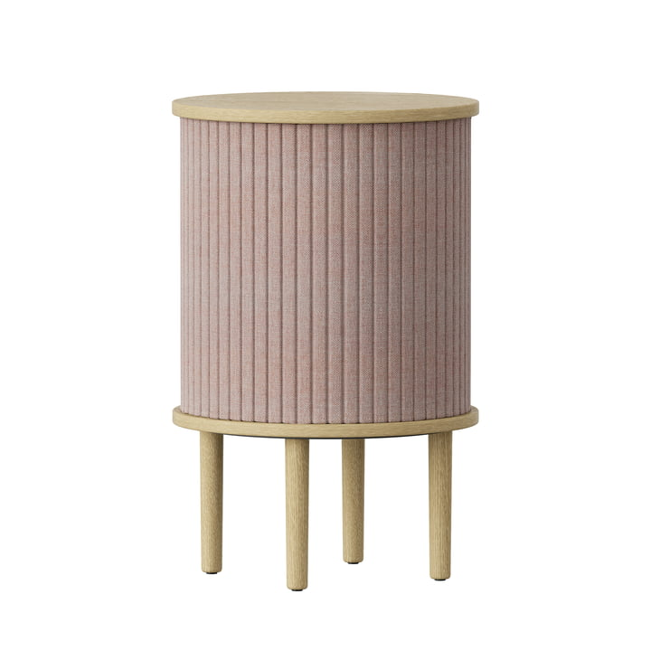 Audacious side table with USB port Ø 38 x H 5 9. 3 cm from Umage in oak nature / dusty rose