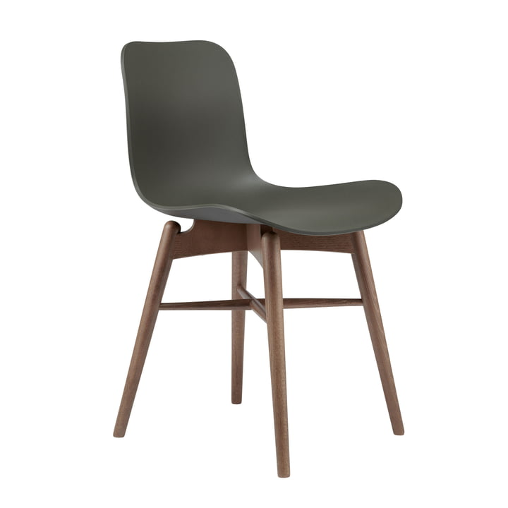 Langue Original chair by Norr11 in beech smoked / army green