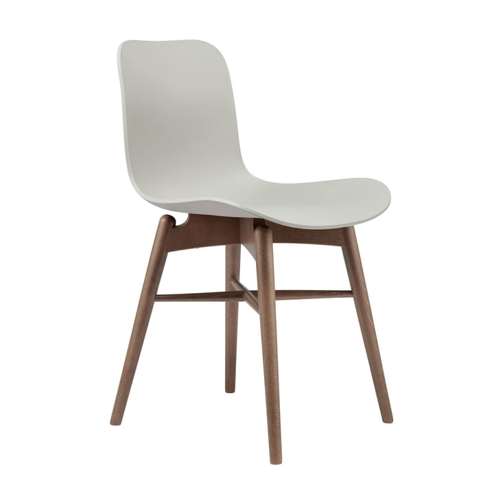 Langue Original chair by Norr11 in beech smoked / flint grey