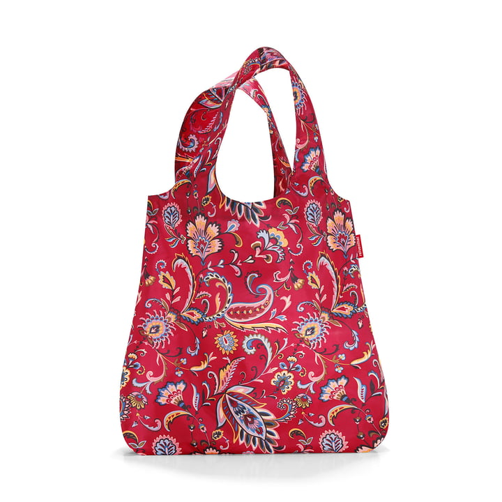 mini maxi shopper from reisenthel in paisley ruby