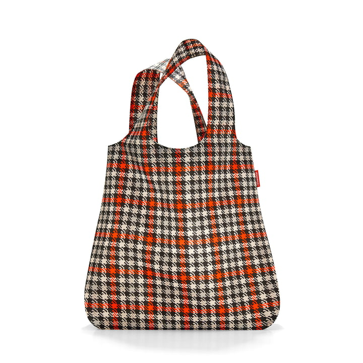 mini maxi shopper from reisenthel in glencheck red